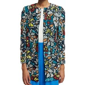 Alice & Olivia Rory Mosiac Tile Sequined Coat